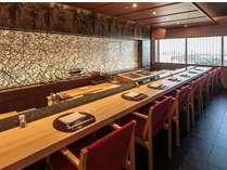17F 鮨処「花見小路」板前による繊細な実演料理をお楽しみいただける寿司カウンター。