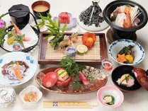 *【夕食一例/会席】人吉の郷土料理を楽しめる定番の会席です。
