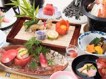 *【夕食一例/会席】見た目にこだわった会席で五感でお食事をお楽しみください。