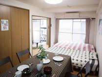 Room6Cのリビング・ベッドルームです