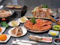 カニフルコースのお料理一例。カニづくしでたっぷりとお楽しみいただけます。