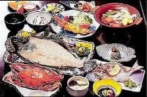 平目の活き造りとワタリ蟹丸ごと1匹が堪能できる『旬彩膳』