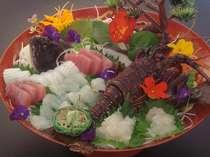 伊勢エビと地魚のお造り