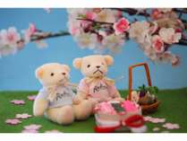 ラディソンベア お花見 3月下旬から4月上旬は庭の桜が満開