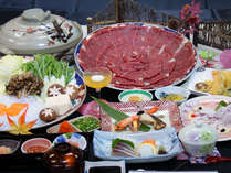 写真は牛しゃぶ会席※鍋の材料は5人盛り(イメージ写真)