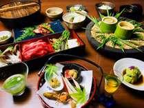 ぐんまの食材を用いた地産池消「山の会席」にておもてなし