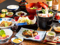 おもわず笑顔!諏訪の田舎料理をご堪能下さい。旬の食材を使った揚げたての天婦羅は当館の自慢です!