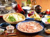 人気の豚シャブプラン!!揚げたての天婦羅も絶品です。