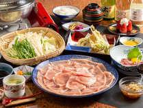人気の豚しゃぶプラン。すわ湖苑の特製ダレで召し上がってください!