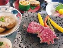 溶岩で焼く信州牛ステーキをご堪能くださいませ