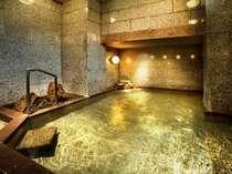 男性用大浴場 天然温泉100%