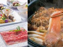 【名嘉真会席】綺麗なサシ、上質な脂の旨味が特徴の「あぐー豚」。芳醇な旨さをすき焼で堪能※イメージ