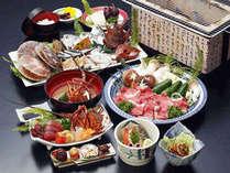名物炭火焼グレードアップA黒潮デラックスは旬の魚貝&宮崎牛中心!!1泊2食