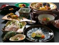 【ご夕食一例】 *旬の食材と毎月替わる日本料理。伝統と新趣が織りなす味に、日常を忘れて下さい。