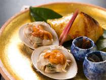 【焼物一例】 *心を込めたお料理は細部にもこだわります。和の奥ゆかしさをお部屋食でご堪能ください。