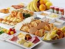 種類豊富なエミシアの朝食ブッフェ