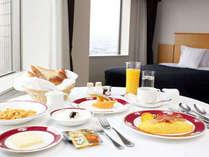 朝食はルームサービスでもお楽しみ頂けます。