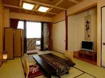 客室一例(露天風呂付和室「渚砂」)露天風呂付客室をリーズナブルに満喫ください♪
