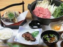 信州牛のすき焼き♪グレードアップの夕食の一例です
