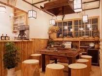 ●食後は、ロビーの囲炉裏でコーヒータイム(夏季を除く)