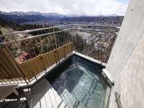 【大浴場・露天風呂】市内一望出来ます。秋と冬はナカナカの景色です。