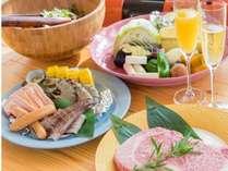 島野菜や海鮮、淡路ビーフをメインとしたBBQプラン。ファミリーやグループにおすすめ☆