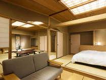 庭園露天風呂付客室にベッドルームが誕生。ゆったりした寛ぎの空間をお試しください
