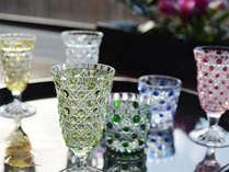 美しく輝く江戸切子。特別な日は特別なグラスで乾杯を。