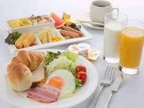 朝食バイキング例