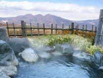 露天風呂(男性用)上州の山が見渡せる