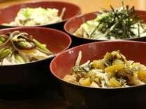 ぶっかけそば 4種♪『色んな味をちょっとずつ』岩井屋旅館 オリジナルスタイル。お蕎麦堪能 プラン