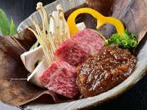 信州牛を、野趣あふれる朴葉焼きでご賞味ください。