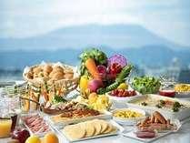 岩手山が一望出来る朝食会場