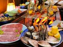 【プレミアム炭火炉端焼きコース】当館最高峰の贅沢を!豪華食材いっぱい詰め込んだ☆おもてなし☆プラン