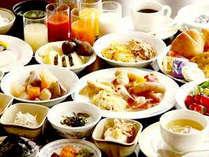 和洋30種以上の朝食バイキングはボリュームアップ&ヘルシー!