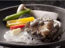 写真料理 【イカとあわび焼】 がメインの渚会席プラン