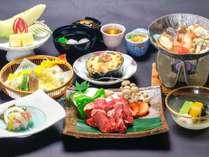 【ステーキなどお肉尽くし】選べる松柏館特別会席