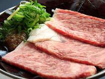 飛騨牛の陶板焼(自家製タレで!)