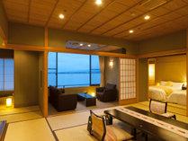 【和モダン】ワンランク上の寛ぎを。眺望絶景の別棟『閑雲』和洋室で過ごす加賀の休日