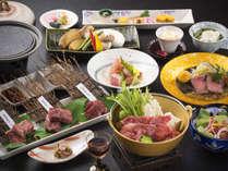 新能登牛三昧「食べ比べ」「大人気のローストビーフ」「すき焼き」をご用意致します。