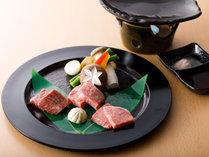 能登牛食べ比べ懐石:台の物(能登牛の厳選3ヶ所の部位を味わってください)