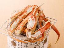 焼き蟹は甘味が活きる絶品です。