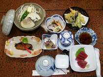 鹿島灘ハマグリつきプランのお料理の一例