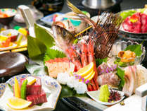 【新鮮・豪華!海鮮舟盛り付】◆魚には一切の妥協なし!◆~北陸の海の恵みをお腹いっぱい味わう~