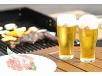 お肉とビールの相性抜群♪