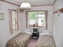 全室ツインルーム。