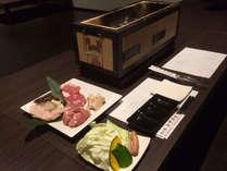 カルビ、カイノミ・・・黒毛和牛を本格七輪炭火焼肉でガッツリ堪能!1泊夕食付プラン【買い物券の特典付】