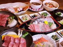 *グレードアップコースお料理一例/金目鯛の煮付けが付くボリュームたっぷりのお料理。