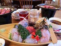【夕食付】新鮮お刺身・国産牛・手作りビーフシチュー♪当館自慢の夕食