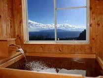 *檜風呂/全室檜風呂付です。